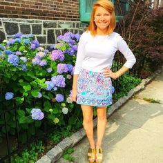 Via @classicallychriste on Instagram- Lilly Pulitzer Marigold Skort in Shell Me About It #SummerinLilly