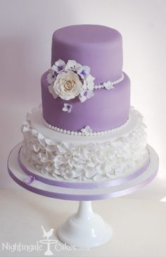 lilac cakes | Lilac Wedding Cake love this one!!