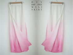 DIY Dip dye side split maxi skirt