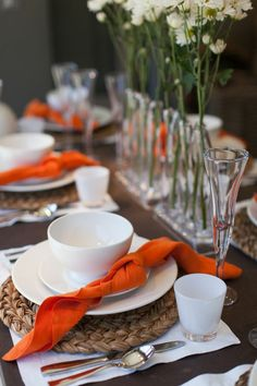 Napkin rings are nice, but when it comes to a rehearsal dinner- a knot is more symbolic of the upcoming nuptials. So sweet, right??