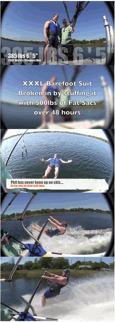 """""""World's Strongest Man Learns to Barefoot Water Ski"""""""