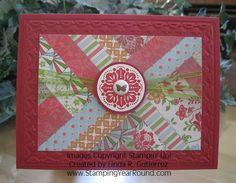paper quilt technique - card designed by Linda Gutierrez
