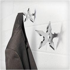 Ninja Throwing Star Coat Hooks - Ninja Home Decor Ninja Star, Geek Decor, Coat Hooks, Coat Hanger, Wall Hanger, Best Christmas Gifts, Stocking Stuffers, Stocking Fillers, My Room