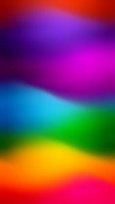 Rainbow Waves - Beautiful Gradient iPhone wallpapers @mobile9