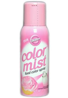 Our easy-to-use Pink Color Mist Food Color Spray gives the versatility and dazzling effects of an airbrush in a convenient can! Transform plain iced cake and frosting with sensational color, or add splashes of color to cakes, cookies, cupcakes, and more. Certified Kosher.