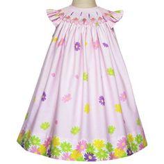 Girls pink floral dress