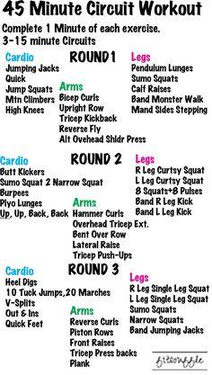 Killer 10 Minute Full-Body Dumbbell HIIT Workout For Total Body - 45 Minute Circuit Workout. Kardio Workout, Workout Cardio, Cardio Training, Mental Training, Boot Camp Workout, 45 Minute Workout, Circuit Workouts, Training Equipment, Full Body Circuit Workout