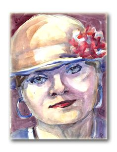 Watercolor original by Joanna Lazuchiewicz 2014