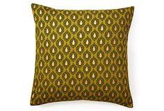 Fern Khari 20x20 Pillow, Green on OneKingsLane.com