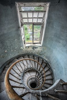 abandoned abbey stairs