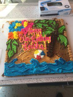 Cookie Cake Designs, Cookie Cakes, American Cookie, Cake Ideas, Birthday Cake, Desserts, Tailgate Desserts, Deserts, Birthday Cakes
