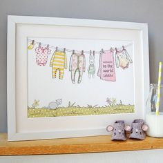 personalised welcome to the world girl print by clara and macy | notonthehighstreet.com