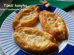 Tündi konyha: Török töltött pogácsa Baked Potato, Feta, Hamburger, Potatoes, Bread, Baking, Ethnic Recipes, Potato, Brot