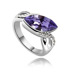 8c876bb983d1 Swarovski crystal ring month on quince purple From Crystaljewelryuk.com