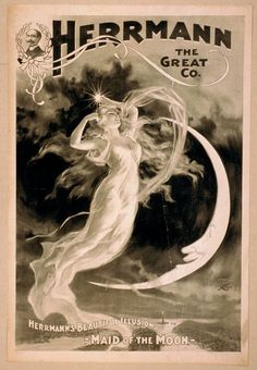 "Herrmann the Great ""Maid of the Moon"" Magicians Magic Posters"