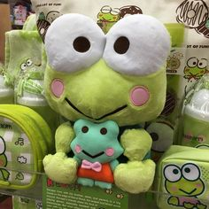 Cute Stuffed Animals, Cute Animals, Sock Animals, Frog And Toad, Frog Frog, Kawaii Plush, Cute Frogs, Sanrio Characters, Plushies