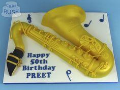 Custom cakes made in Cheshunt Saxophone, Custom Cakes, How To Make Cake, Birthday, Personalized Cakes, Birthdays, Personalised Cake Toppers, Saxophones, Dirt Bike Birthday