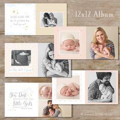 Bebé álbum plantilla para fotógrafos bebé foto libro