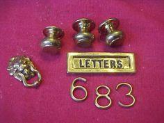 Wonderful Solid Brass Doll House Door Knocker Letter Shute Door Knobs  Numbers