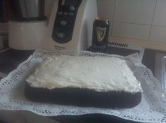 Tarta Guiness con frosting para #Mycook http://www.mycook.es/receta/tarta-guiness-con-frosting/