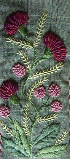 Wonderful Ribbon Embroidery Flowers by Hand Ideas. Enchanting Ribbon Embroidery Flowers by Hand Ideas. Brazilian Embroidery Stitches, French Knot Embroidery, Embroidery Flowers Pattern, Types Of Embroidery, Hand Embroidery Designs, Vintage Embroidery, Embroidery Kits, Silk Ribbon Embroidery, Embroidered Flowers