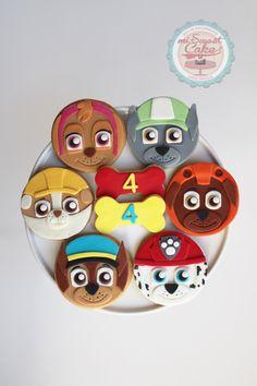 misweetcake ♥ Cake Design: Paw Patrol Cookies / Bolachas Patrulha Pata https://www.facebook.com/misweetcakedesign/ https://www.instagram.com/misweetcake/