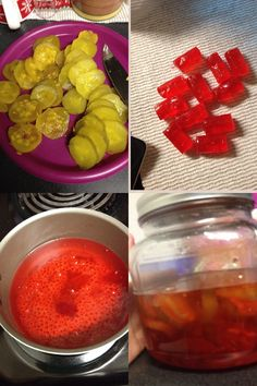 Jolly rancher cherry flavored pickles