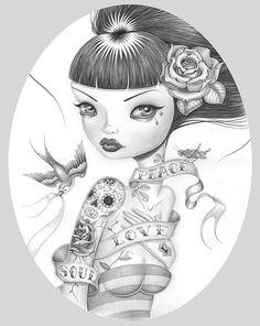 Ilustrações com estilo super lowbrow de Caia Koopman caiakoopman.com