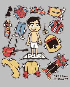 Dress Up: Pop-Culture Related Paper Doll CutOuts - The Orange - Fresh!