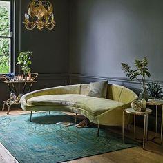 NEW IN // Our gold velvet Tiffany Sofa exudes vintage glamour ✨