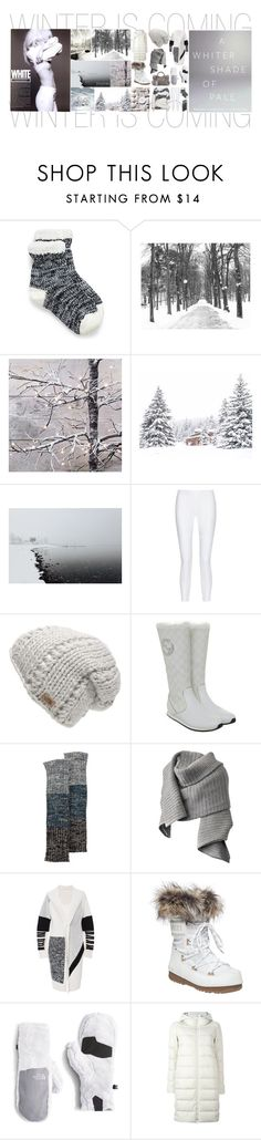 """""""White Winter"""" by dycinnagy ❤ liked on Polyvore featuring Pottery Barn, 10 Crosby Derek Lam, The North Face, Gucci, Sylvia Alexander, Acne Studios, Prabal Gurung, Herno, Balenciaga and Winter"""