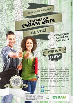 Peça campanha Vestibular ESBAM
