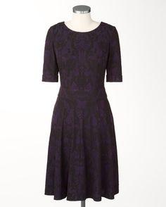 Ponte brocade dress - [K20342]