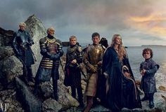 Mostly Lanisters - actors Gwendoline Christie, Charles Dance, Jack Gleeson, Nikolaj Coster-Waldau,Lena Headey, and Peter Dinklage in Game of Thrones, photographed by Annie Leibovitz..