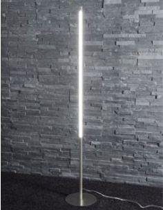 Lampadaire design LED en nickel mat LEILA