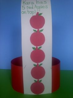 10 Apples Up On Top hat craft