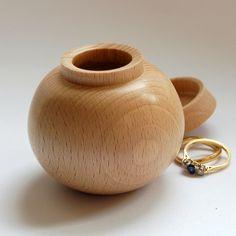 Beech Wooden Ring Box £16.00
