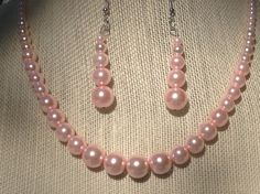 Pink Bride Jewelry Pink Bead Necklace and by DragonflyDenim