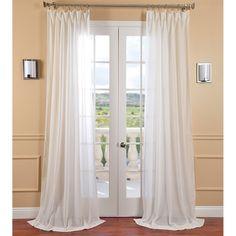 EFF Gardenia Faux Linen Sheer Curtain Panel