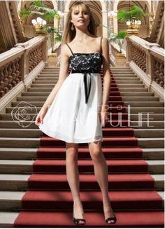 $214.99 Elegant Satin Spaghetti Straps #Mini #Wedding #Dress With Lace Mini Wedding Dresses, Bridesmaid Dresses, Black Spaghetti, Spaghetti Straps, Cool Style, My Style, Life Is Beautiful, Cool Designs, White Dress