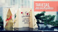 Tarjetas navideñas, bonitas y fáciles! -Anie Christmas Deco, Merry Christmas, Diy Tutorial, Paper Shopping Bag, Dyi, Cards, Youtubers, Tutorials, Home Decor