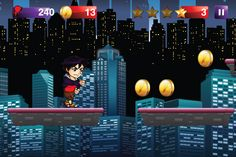Big Hero Adventures is the ultimate adventure across city. You comes across many unforeseen dangers and enemies as he follows a trail of magical dragon coins and mystical objects that help him along his quest through the City.  Help our Hero on this action packed adventure journey, as he leaps from platform to platform, through a challenging maze of obstacles and dangerous bad guys.