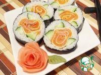 "Роллы ""Роза"" с лососем ингредиенты Cucumber Seeds, Pickled Ginger, Japanese Sushi, Chicken Eggs, Rice Bowls, Avocado Egg, Sashimi, Bon Appetit, Finger Foods"