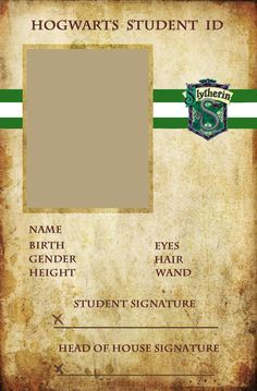 Slytherin ID by ~animejunkie106 on deviantART