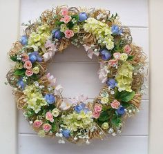 Pastel Wreath For Spring Time