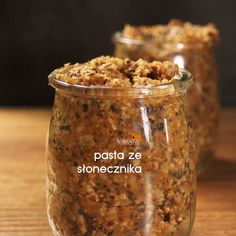 PASTA ZE SŁONECZNIKA Nutella, Food Processor Recipes, Peanut Butter, Good Food, Food And Drink, Appetizers, Healthy Recipes, Snacks, Vegan