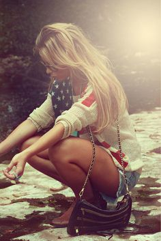 Cute 4th of july outfit<3 Maybe one day I'll live somewhere that I can wear a sweater on the 4th without people worried I'm suicidal!