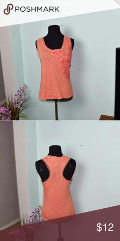 Gorgeous Peach Floral Embroidered Tank Top In excellent condition and beautifully made Tops Blouses