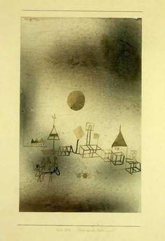 Paul Klee  'Szene vor der Stadt' (Scene Outside the Town or Scene before the City[my own attempt at translation g.s.]) 1929