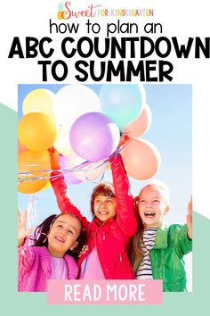 Celebrating the summer season with end of the year activities? These ABC countdown to summer ideas are engaging, educational ways for your kindergarten and early elementary students to learn and play to wrap up the school year. Click the pin to learn how to use it in your classroom this year! Abc Phonics, Phonics Reading, End Of Year Activities, Summer Activities, Teaching Letters, Kindergarten Classroom, Students Day, Classroom Management Tips, Best Teacher Gifts